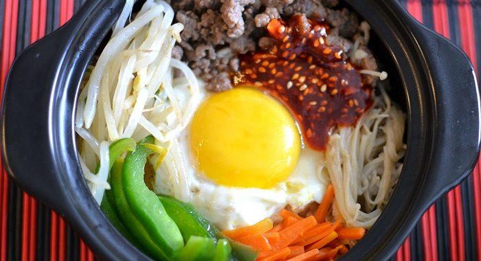 Nguyên liệu làm cơm trộn Hàn Quốc